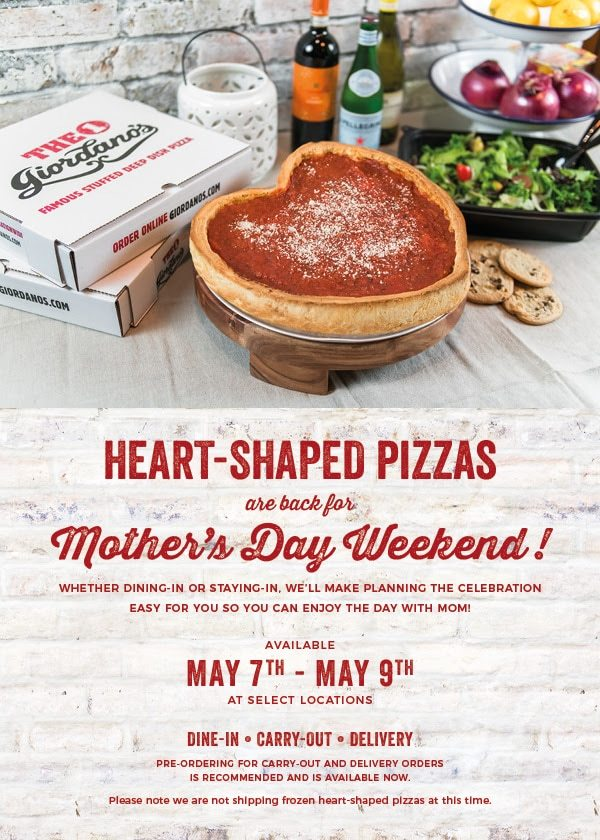Giordano's Mother's Day Deal