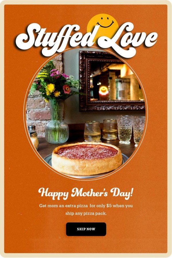 Nancy's Pizza Mother's Day Deal